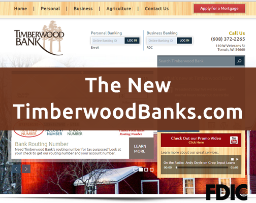 A walkthrough of the new Timberwood Bank website
