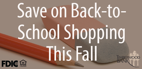 Do your back-to-school shopping and stay within your budget this month.